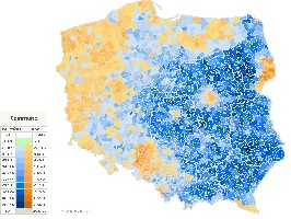 Poland - Presidential election results map